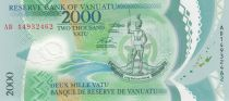 Vanuatu 2000 Vatu, Chef Mélanésien - Oiseaux 2014 - Neuf - P.14