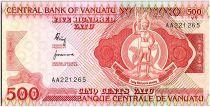 Vanuatu 500 Vatu Chef Mélanésien - Longs tambours - 1982