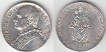 Vatican 10 Lires Pie XI - 1931