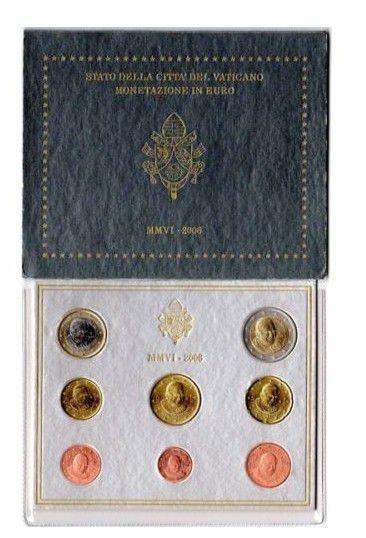 Vatican BU.2006 Coffret BU 2006 - Benoit XVI 8 pièces