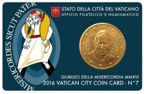 Vatican BU.2016 50 Cents, Coincard 7 - 50 cents 2016 - François