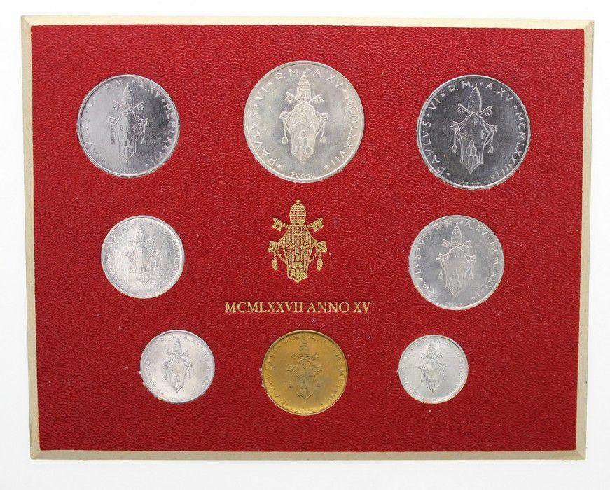 Vatican City State Mint set of 8 coins Paul VI 1977 Rome