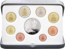 Vatican City State Proof set  BE - 9 coins 1 cent to 2 euros + 20 Euros Silver Jésus and Child