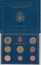 Vatican City State Proof set of 2002 - Pope John Paul II - 8 coins in Euros