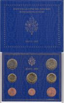 Vatican City State Proof set of 2007 - Benoit XVI - 8 coins in Euros