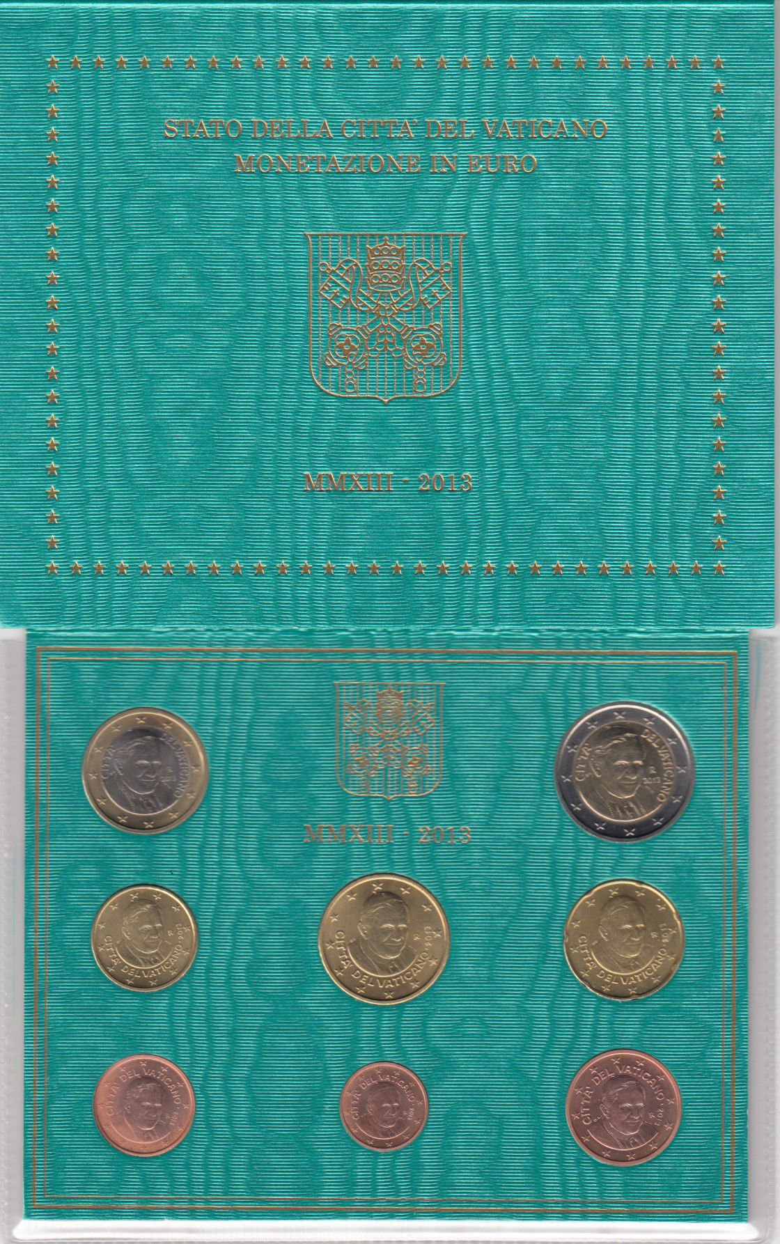 Vatican City State Proof set of 2013 - Benoit XVI - 8 coins in Euros