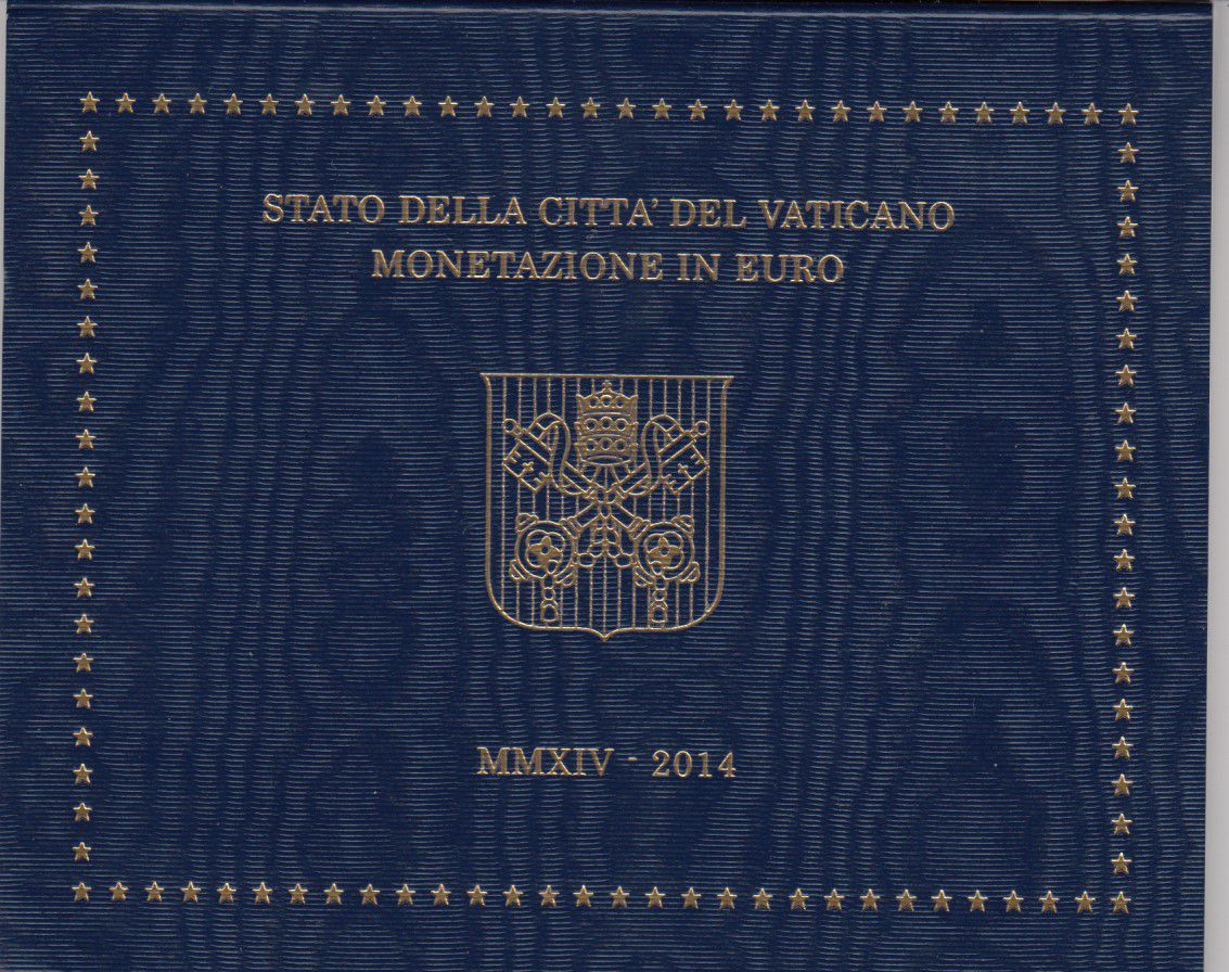 Vatican City State Proof set of 2014 - Pope Francois- 8 coins in Euros