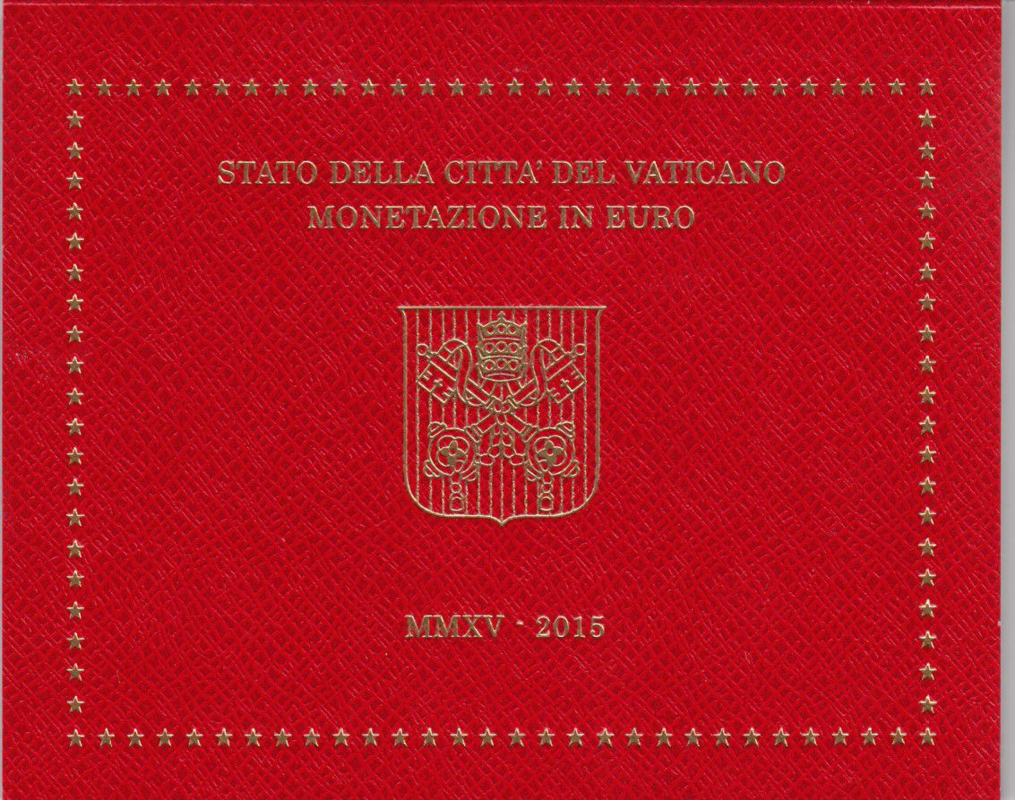 Vatican City State Proof set of 2015 - Pope Francois- 8 coins in Euros