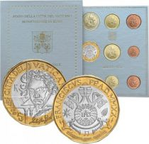Vatican City State Proof set of 2020 -  9 coins - incluing 5 Euro Beethoven