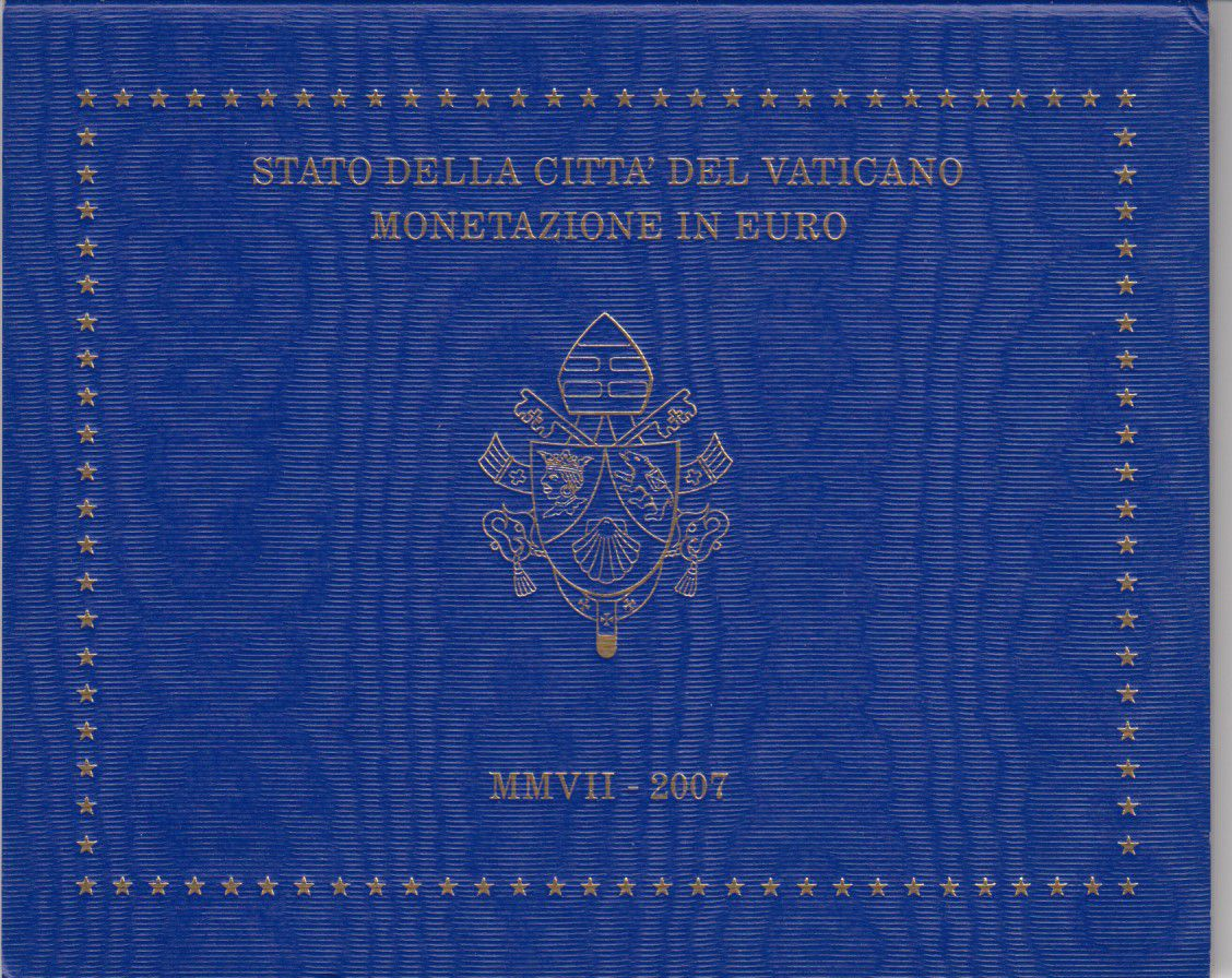 Vatican Coffret BU 8 pièces 2007 - Benoit XVI