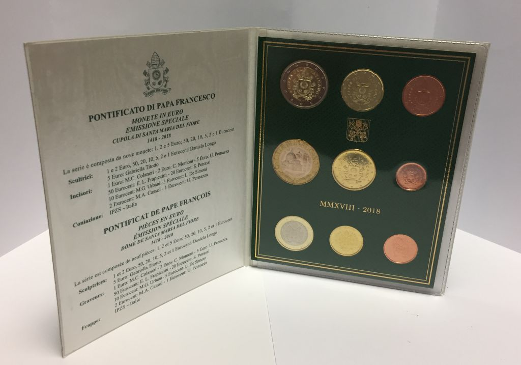 Vatican Coffret BU 9 pièces 2018 - Armoiries