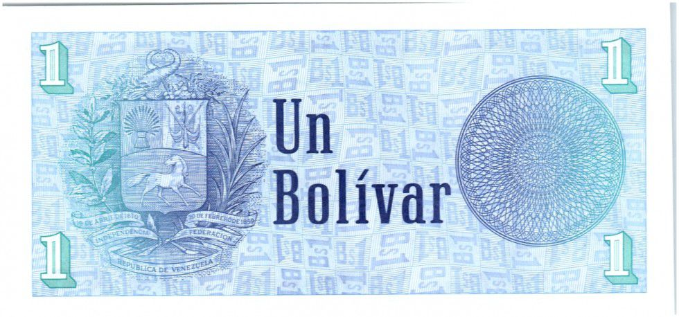 Venezuela 1 Bolivar Simon Bolivar - Armoiries 1989