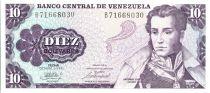 Venezuela 10 Bolivares Marechal Sucre - Horses - Ayacucho - 1981