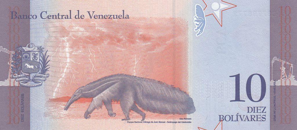 Venezuela 10 Bolivares Rafael Urdaneta - Tamanoir - 2018
