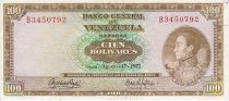 Venezuela 100 Bolivares Simon Bolivar - Monument