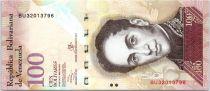 Venezuela 100 Bolivares Simon Bolivar - Petits cardinals - 2013