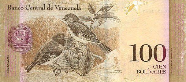 Venezuela 100 Bolivares Simon Rodriguez - Birds