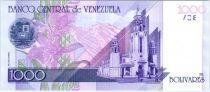 Venezuela 1000 Bolivares Simon Bolivar - Orchidées, Panthéon - 1998