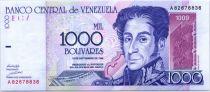 Venezuela 1000 Bolivares Simon Bolivar - Orchids, Pantheon - 1998