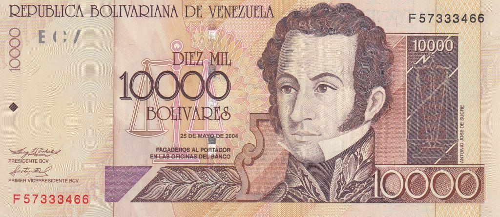 Venezuela 10000 Bolivares 2004 - A. J. de Sucre, Tribunal Suprême