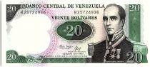 Venezuela 20 Bolivares, Rafael Urdaneta - 1987