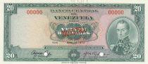 Venezuela 20 Bolivares 1972 Specimen