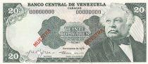Venezuela 20 Bolivares 1979 Specimen