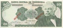 Venezuela 20 Bolivares José Antonio Paez - Monument Bataille de Carabobo