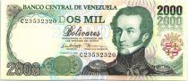 Venezuela 2000 Bolivares Gal A.J. De Sucre - Battle of Ayacucho - 1998