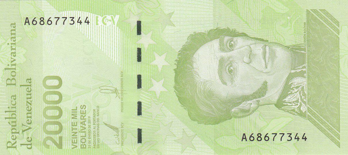 Venezuela 20000 Bolivares Simon Bolivar - 2019 (2020) - Neuf