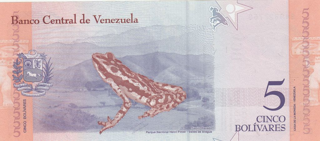Venezuela 5 Bolivares José Felix Ribas - Grenouille - 2018