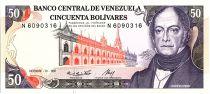 Venezuela 50 Bolivares,  Andres Bello - Banque centrale - 1985