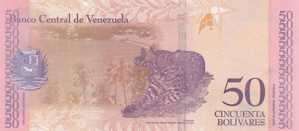 Venezuela 50 Bolivares Antonio Jose de Sucre - Léopard - 2018