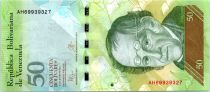 Venezuela 50 Bolivares Simon Rodriguez - Ours - 2015