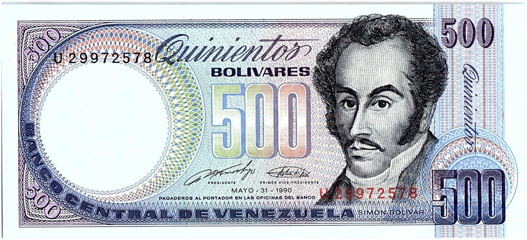 Venezuela 500 Bolivares Simon Bolivar - Orchidées - 31/05/1990