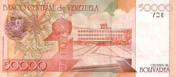 Venezuela 50000 Bolivares José Maria Vargas - Bdlg