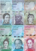 Venezuela Serial of 6 notes 500 to 20000 bolivares - 2016 (2017)