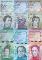 Venezuela Serial of 6 notes 500 to 20000 bolivares - 2016 (2017)
