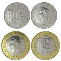 Venezuela Série 2 pièces 0,50 et 1 Bolivar - Simon Bolivar - 2018