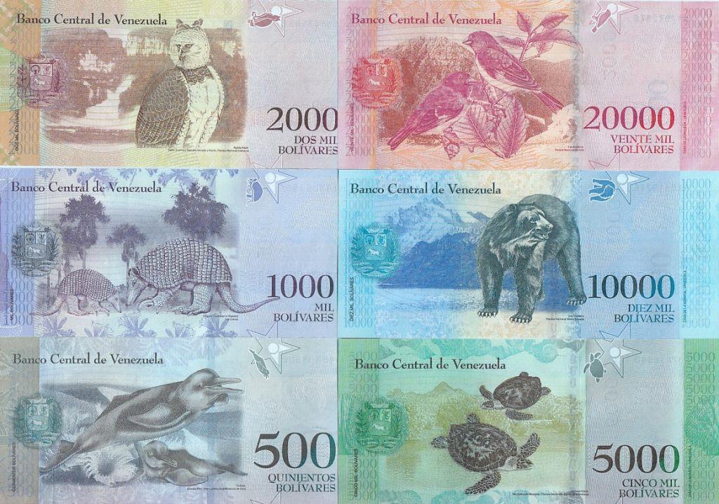 Venezuela Série de 6 billets 500 à 20000 bolivares - 2016 (2017)