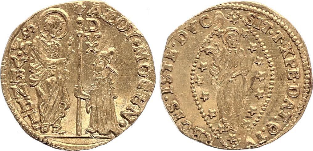 Venice Sequin, Alvise Mocenigo II (1700-1709) doge - Nimbate Christ