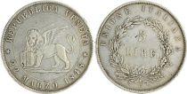 Venise 5 Lire, Lion de Venise - Italie - 1848 - Argent