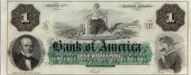 Vereinigte Staaten von Amerika 1 dollar, Bank of America, Providence - 1860 - Letter A