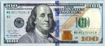Vereinigte Staaten von Amerika 100 Dollars Franklin -  B2 New York - 2013
