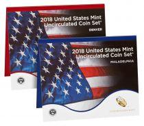 Vereinigte Staaten von Amerika Uncirculated Coin Set BU Denvier (D) + Philadelphia (P) 2018 - 20 coins