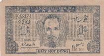 Viet Nam 1 Dong Ho Chi Minh - 1947 - P.9c watermark Circle