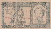 Viet Nam 10 Dong Ho Chi Minh - 1948 - P.22c watermark Vietnam- Fine - Serial YA 090
