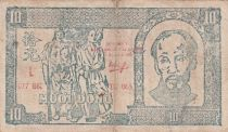 Viet Nam 10 Dong Ho Chi Minh - 1948 - P.23 - Fine - Serial 077 BK