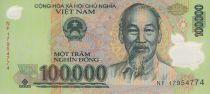 Viet Nam 100000 Dong Ho Chi Minh - Van Mieu temple 2016 - Polymer