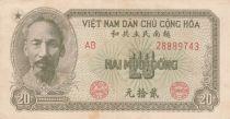 Viet Nam 20 Dong Ho Chi Minh - 1951 - VF - P.60b